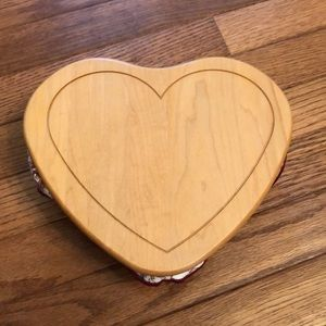 "Heart shaped ""Love"" Longaberger basket"